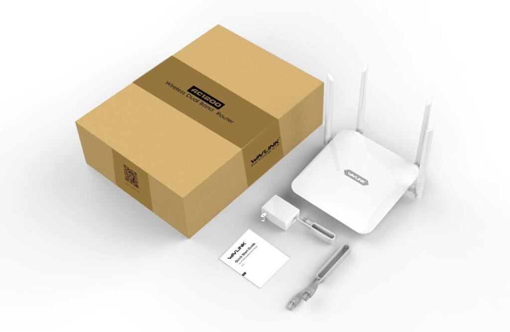 Wavlink WiFi router Image taken from https://www.amazon.com/WAVLINK-Extender-Coverage-1200Mbps-Wireless/dp/B07THZ9LBK/ref=sr_1_4