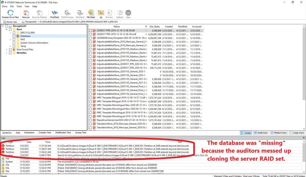 Hard drive clone woes from the Keystone Kops Arizona election audit team.