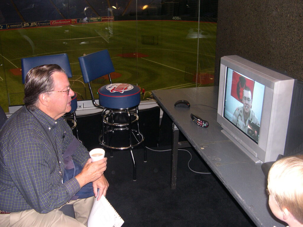 Touch 'em all, John Gordon, Minnesota Twins game-day announcer at the time.