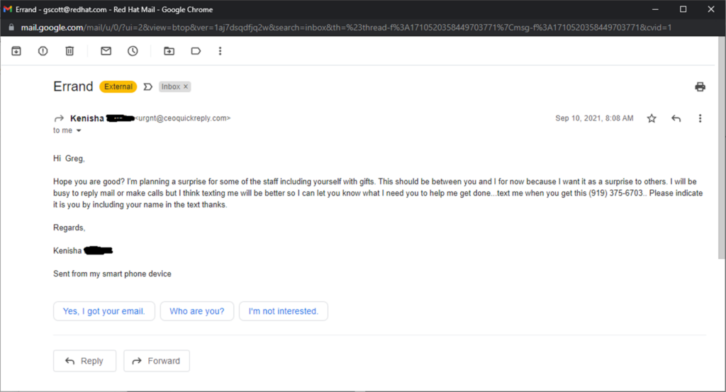 The best spear-phishing attack I've seen so far.